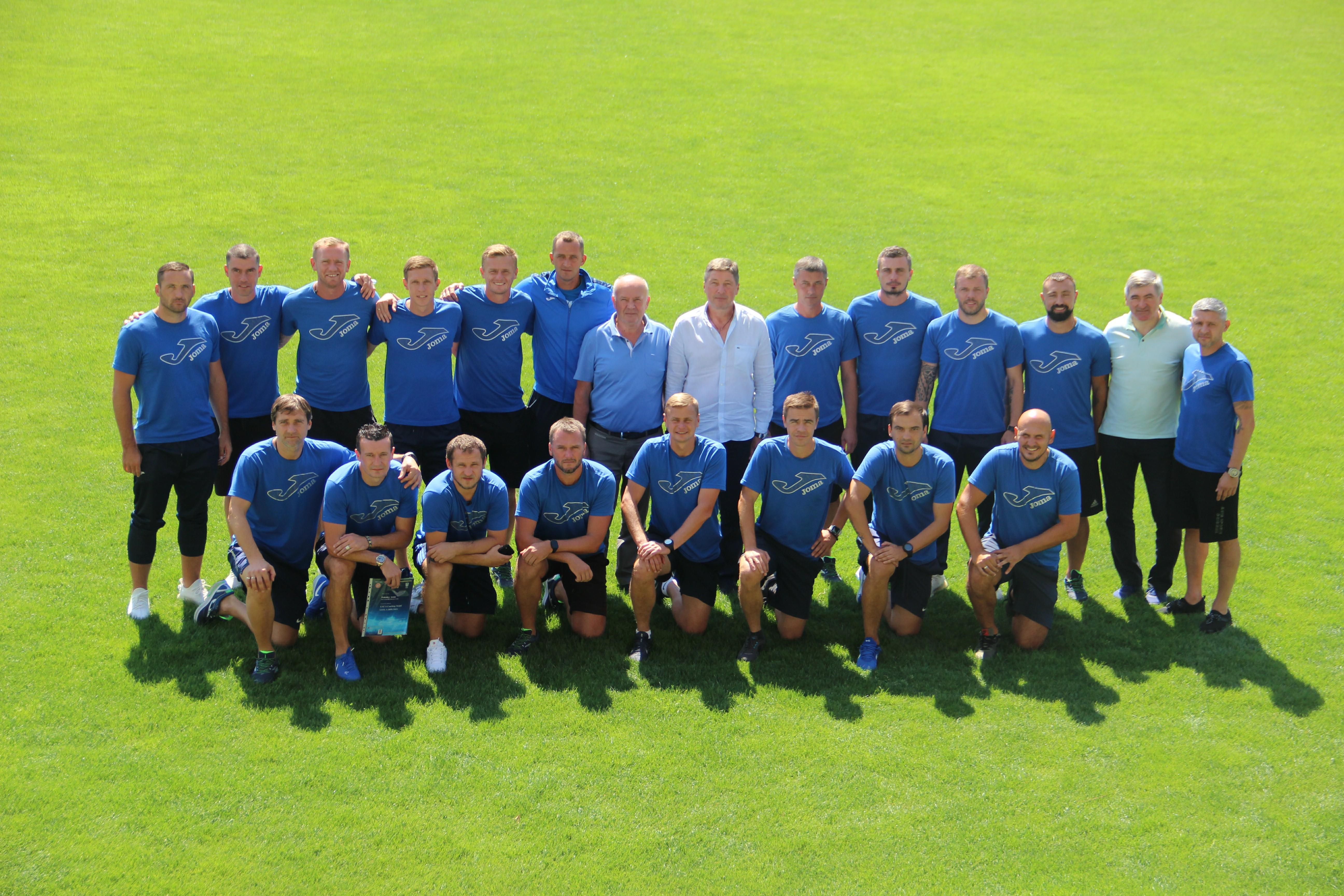 """Закінчилось навчання тренерів категорії """"А""""-UEFA з тривалим професійним стажем"""
